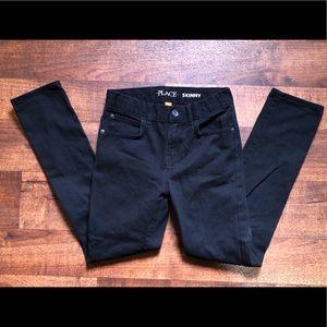 Boys 10 black skinny jeans